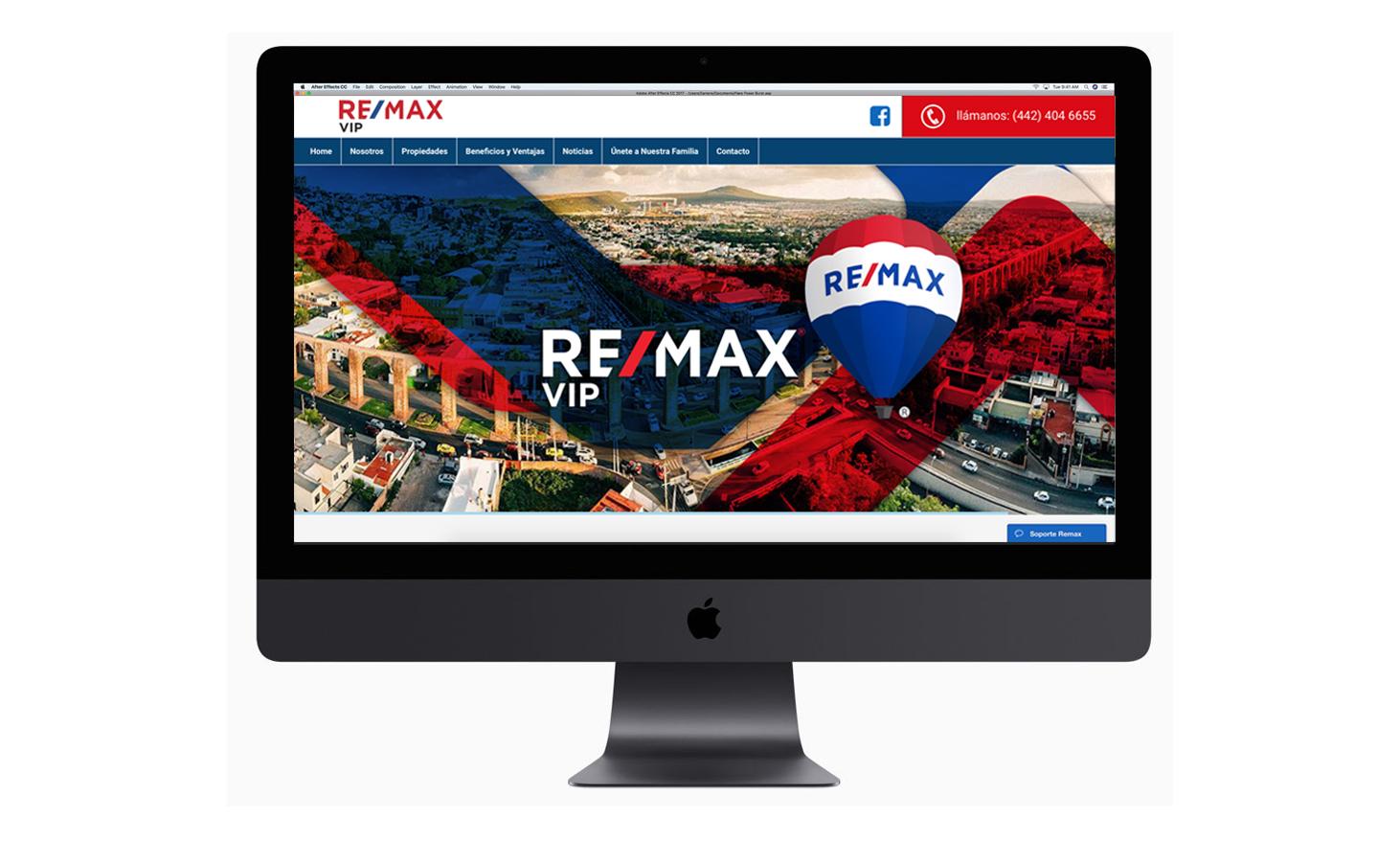 Sitio web REMAX VIP