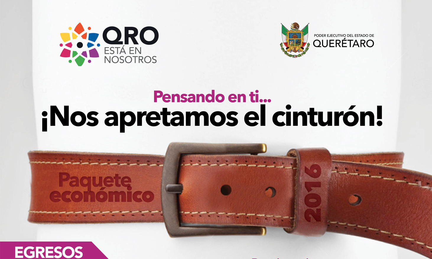 Campaña «Nos apretamos el cinturón» Gob. de Querétaro
